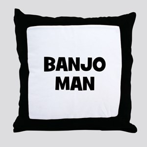 Banjo man Throw Pillow